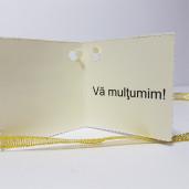 Eticheta - Card dublu perforat crem 19