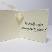 Eticheta - Card dublu perforat crem 27