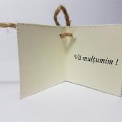 Eticheta - Card dublu perforat crem 34