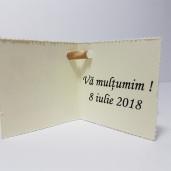 Eticheta - Card dublu perforat crem 39