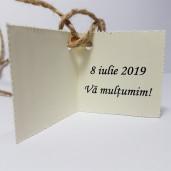 Eticheta - Card dublu perforat crem 41