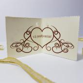 Eticheta - Card dublu perforat crem 59