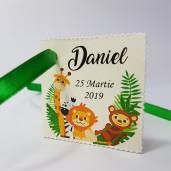 Eticheta - Card dublu perforat crem 70