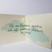 Eticheta - Card dublu perforat crem 73