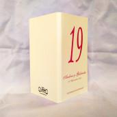 M00 Alb/Crem - Meniu clasic cu numar de masa