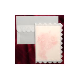 Invitatie de nunta cu calc si trandafiri roz 150021 TBZ