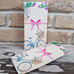 Invitatie de nunta cu tema florala si bicicleta 2784 POPULAR