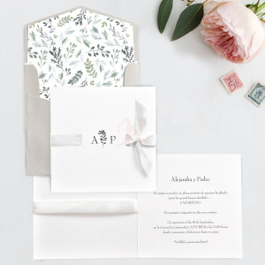 Invitatie customizabila 39751 alba CLARA