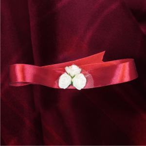 Bratara domnisoara de onoare visinie cu flori albe 1