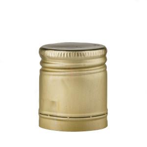Capac aluminiu prefiletat D 30*35 mm auriu