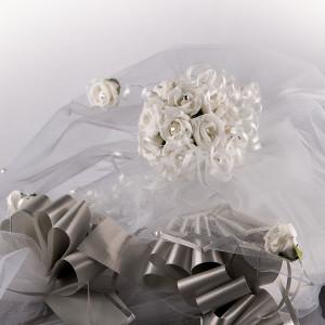 Decor masina nunta cu trandafiri 1