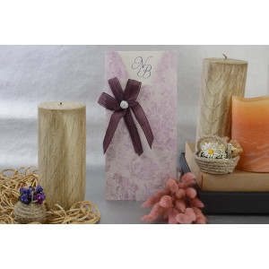 Invitatie florala cu fundita 17078 ARMONI