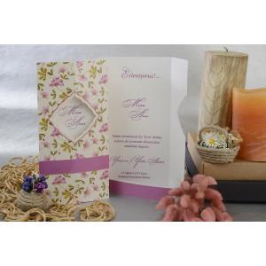 Invitatie cu tema florala 17105 ARMONI