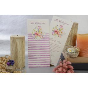 Invitatie florala cu dungi 17108 ARMONI