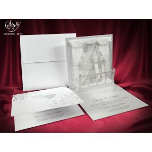 Invitatie de nunta 3D eleganta 3610 SEDEF