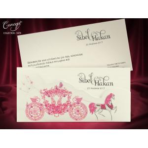 Invitatie de nunta cu caleasca 5478