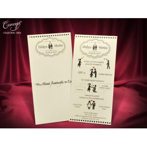 Invitatie de nunta amuzanta 5524 CONCEPT