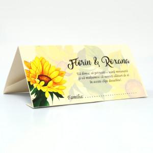 Plic pentru bani cu floarea-soarelui PB94 - Crem