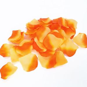 Petale artificiale de trandafiri portocalii degrade