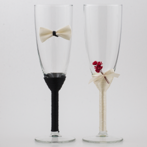 Set pahare miri handmade, cu flori uscare