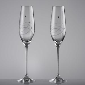 Set pahare miri Cristal Bohemia Swirly - cu Cristale Swarovski